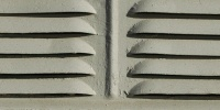 vent/drain horizontal shadow architectural metal white