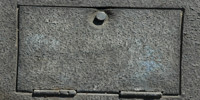 gray asphalt industrial rough weathered rectangular street door