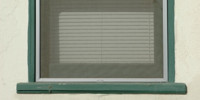 green white glass stucco/plaster architectural rectangular window