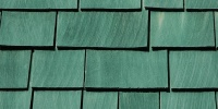 green wood architectural rectangular roof