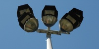 blue gray sky industrial sports/rec pattern fixture