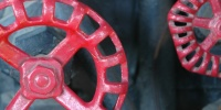 metal paint black red mech/elec industrial fixture handle round vehicle