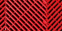 red plastic architectural grooved angled floor