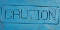 blue rubber industrial textual rectangular sign floor