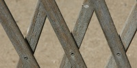 gray tan/beige wood architectural diamonds angled fence slats