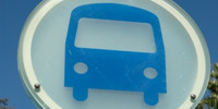 blue glass vehicle dirty round sign symbol